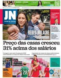 capa Jornal de Notícias de 16 maio 2021