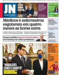 capa Jornal de Notícias de 19 maio 2021