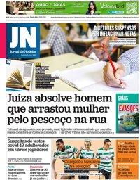 capa Jornal de Notícias de 21 maio 2021