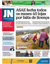 capa Jornal de Notícias de 22 maio 2021