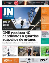 capa Jornal de Notícias de 23 maio 2021