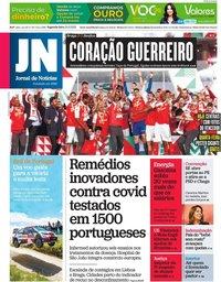 capa Jornal de Notícias de 24 maio 2021
