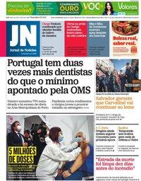 capa Jornal de Notícias de 25 maio 2021