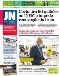 capa Jornal de Notícias de 26 maio 2021
