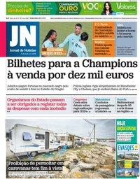 capa Jornal de Notícias de 28 maio 2021