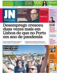 capa Jornal de Notícias de 29 maio 2021