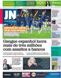 capa Jornal de Notícias de 30 maio 2021