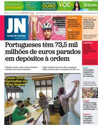 capa Jornal de Notícias de 31 maio 2021