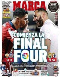 capa Jornal Marca de 1 maio 2021