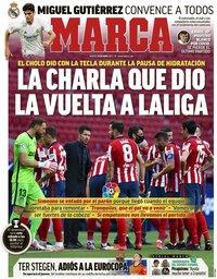 capa Jornal Marca de 18 maio 2021