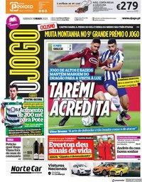 capa Jornal O Jogo de 1 maio 2021