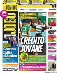capa Jornal O Jogo de 2 maio 2021