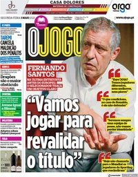 capa Jornal O Jogo de 3 maio 2021