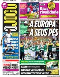 capa Jornal O Jogo de 4 maio 2021