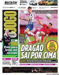 capa Jornal O Jogo de 7 maio 2021