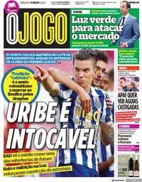 capa Jornal O Jogo de 8 maio 2021