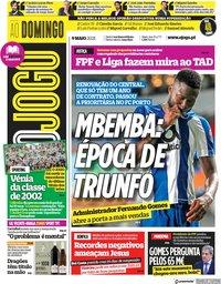 capa Jornal O Jogo de 9 maio 2021