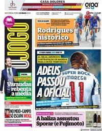 capa Jornal O Jogo de 10 maio 2021