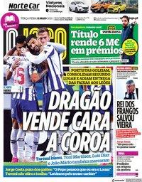capa Jornal O Jogo de 11 maio 2021