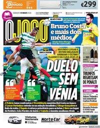 capa Jornal O Jogo de 15 maio 2021