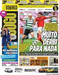 capa Jornal O Jogo de 16 maio 2021