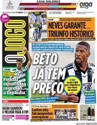 capa Jornal O Jogo de 17 maio 2021