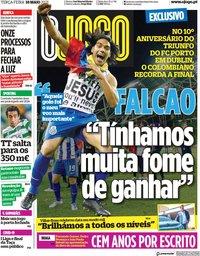 capa Jornal O Jogo de 18 maio 2021