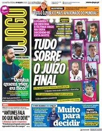 capa Jornal O Jogo de 19 maio 2021
