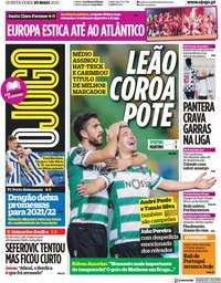 capa Jornal O Jogo de 20 maio 2021