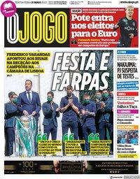 capa Jornal O Jogo de 21 maio 2021