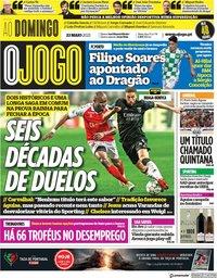 capa Jornal O Jogo de 23 maio 2021