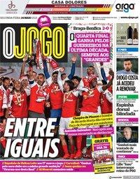 capa Jornal O Jogo de 24 maio 2021