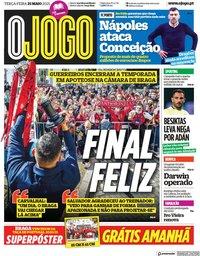 capa Jornal O Jogo de 25 maio 2021