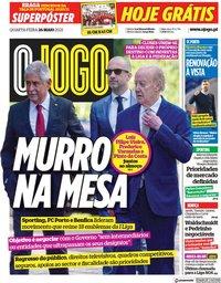 capa Jornal O Jogo de 26 maio 2021