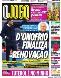 capa Jornal O Jogo de 27 maio 2021