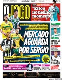 capa Jornal O Jogo de 28 maio 2021