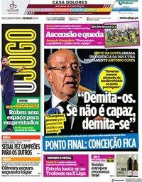 capa Jornal O Jogo de 31 maio 2021