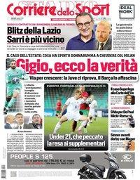 capa Corriere dello Sport de 1 junho 2021