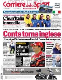 capa Corriere dello Sport de 3 junho 2021