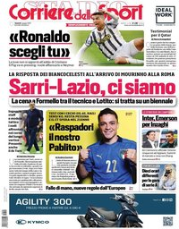 capa Corriere dello Sport de 4 junho 2021