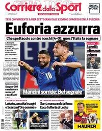 capa Corriere dello Sport de 5 junho 2021