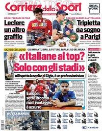 capa Corriere dello Sport de 6 junho 2021