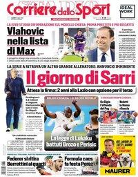 capa Corriere dello Sport de 7 junho 2021