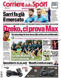 capa Corriere dello Sport de 8 junho 2021