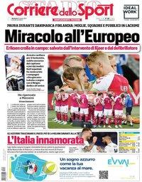 capa Corriere dello Sport de 13 junho 2021