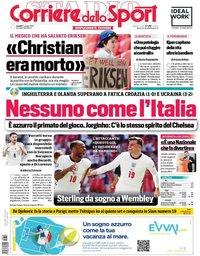 capa Corriere dello Sport de 14 junho 2021