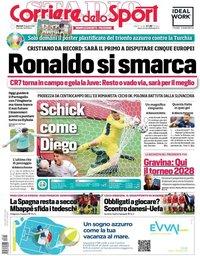 capa Corriere dello Sport de 15 junho 2021