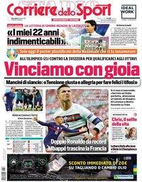 capa Corriere dello Sport de 16 junho 2021