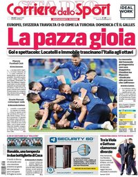 capa Corriere dello Sport de 17 junho 2021
