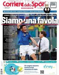 capa Corriere dello Sport de 21 junho 2021